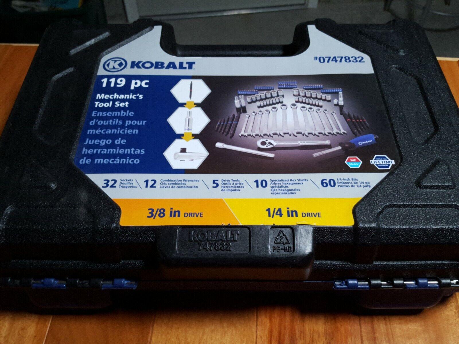 Kobalt 119-Piece Standard (SAE) and Metric Mechanic's Tool Set with Hard Case