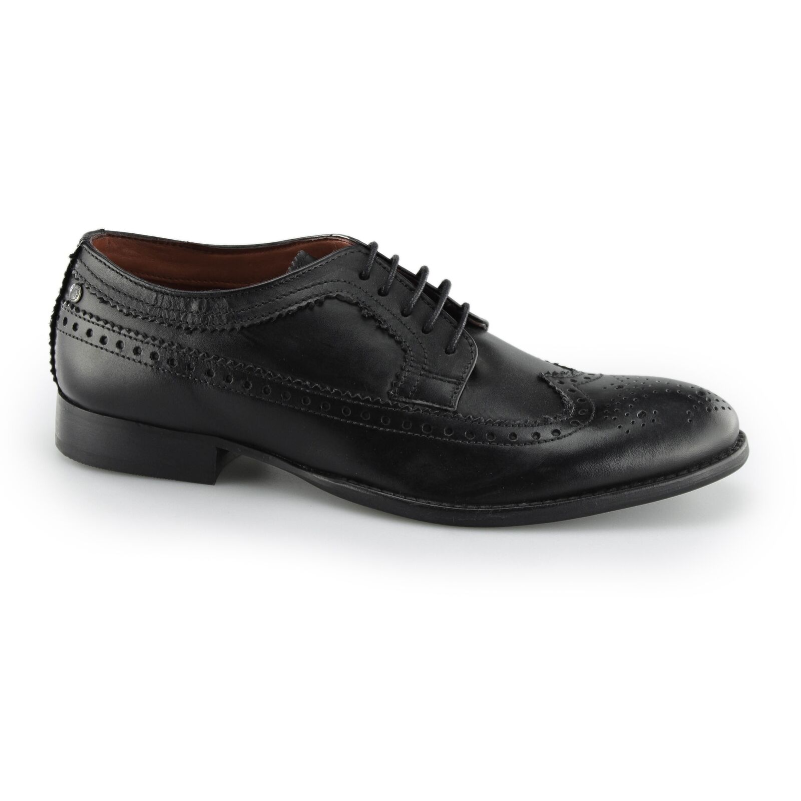 Base London BAILEY Mens Smart Brogue Brogue Brogue Wing Tip Leather Derby Lace Up schuhe b918d6