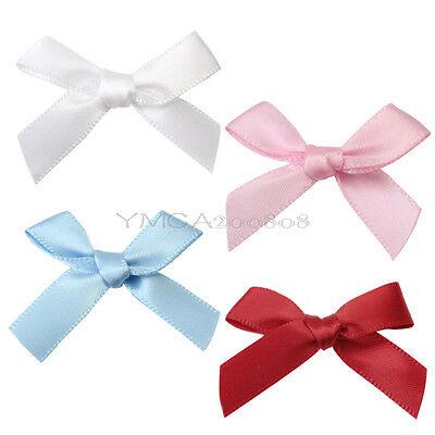 100 Pcs Satin Ribbon Bow For Scrapbooking Card-making Craft DIY Decoration New