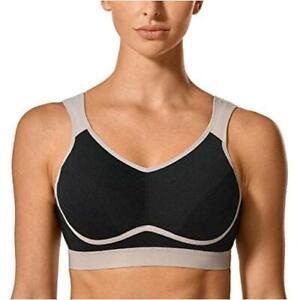SYROKAN-Women-039-s-High-Impact-Support-Bounce-Control-Plus-Black-Grey-2-Size-34E