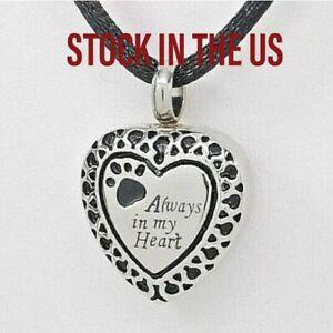 Tear Urn Paw Print Cremation Urn Necklace Engraveable Ashes Keepsake