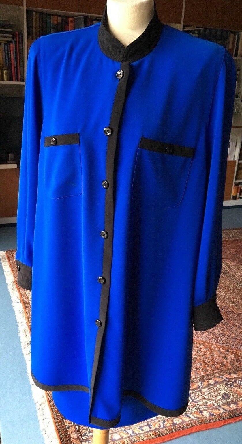 TH. BRAUN royal blaues Kostüm Blause Rock Gr. 44  Kleid Tunika Zweiteiler SUPER