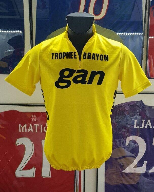 Maillot yellow jersey maglia shirt camiseta cyclisme vintage tour de france gan 4