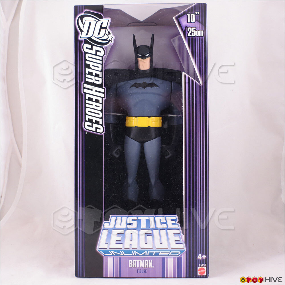 Justice League Unlimited Batman 10 inch 25cm DC Super Heroes JLU lila box