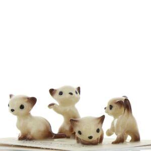 Hagen-Renaker-Miniature-Cat-Siamese-Tiny-Kittens-Boxing-Walking-Sitting-amp-Lying