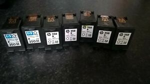 HP-350-amp-351-Genuine-HP-officejet-ink-cartridges-used-empty-8-Black-4-Tri-colour