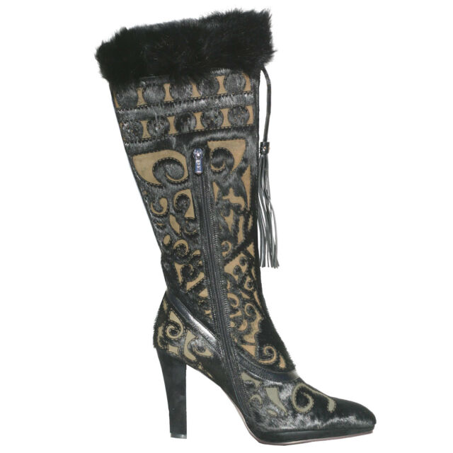 Cochni Tall Dress Boots For Women Black Eu 36us 6 Ebay