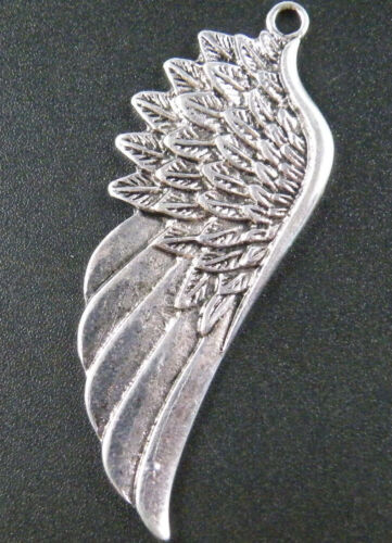 4pcs Silver Tone Wings Charms 58x22x2.5mm 15892 9672