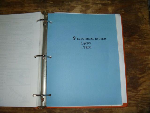 Kubota L3200 L3800 Tractor Electrical Wiring Diagram