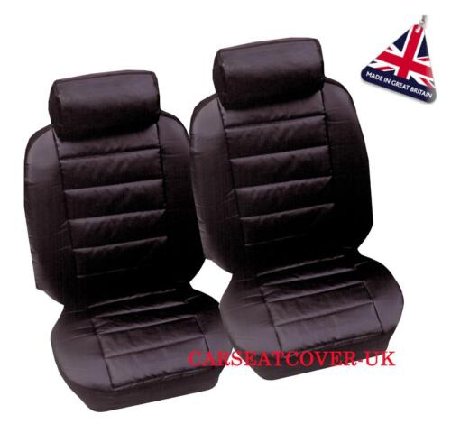 2002-09 2 x Fronts Luxury Padded Leather Look Car Seat Covers Renault Megane
