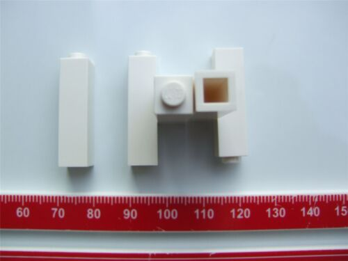 5 x Lego white tall bricks Parts /& Pieces – 6055541 size 1x1x3