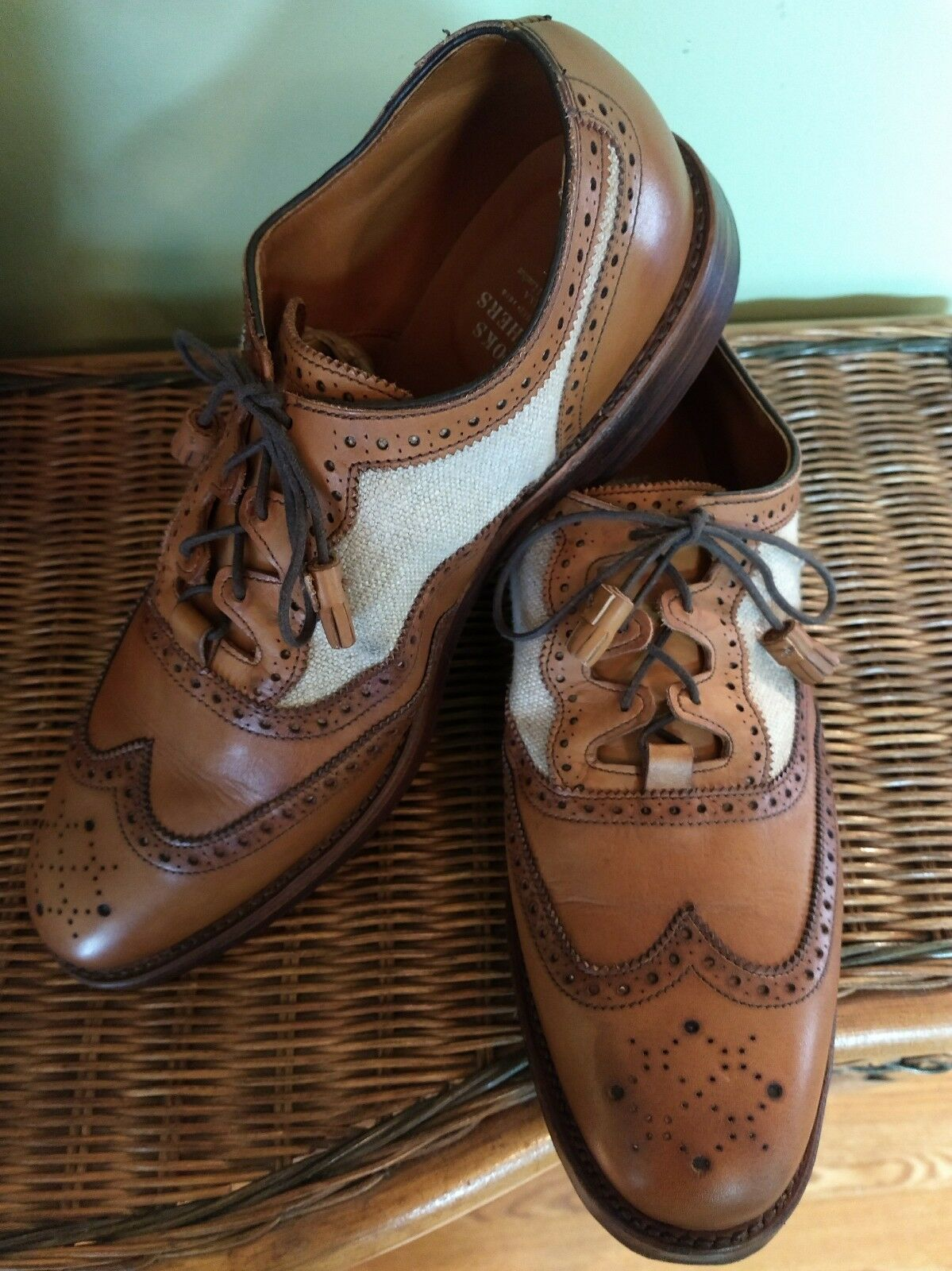 Brooks Brougehers marron Wingtip    chaussures  Hommes 10 D Beautiful  Quick Ship