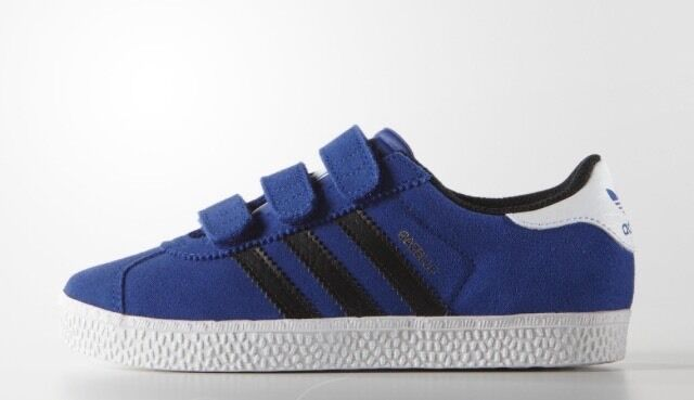 adidas Originals Gazelle 2 CF B24639 Boys Youth Boblue Blue Black White 10.5  Schlussverkauf