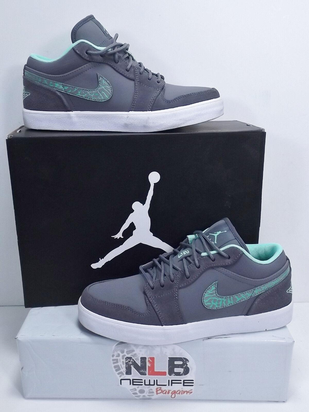 Nike AJ V.2 Low 552312-031 Dark Grey/Green Glow/White Comfortable Great discount