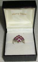 Harry Ivens Ring Gr. 63 Aus 925 Silber Mit Rubine Neuw. Aus Geschäftsauflösung