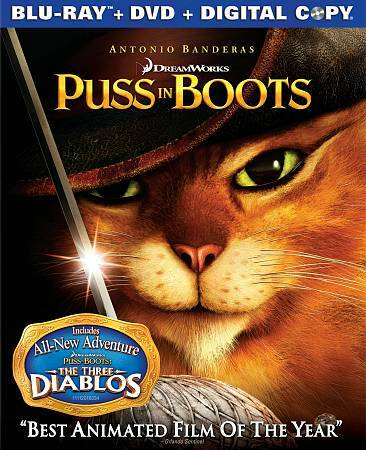 Puss In Boots Blu-ray/DVD, 2012, 2-Disc Set, Includes Digital Copy  - $0.99
