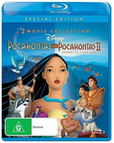 1 of 1 - Pocahontas  / Pocahontas II - Journey To A New World (Blu-ray, 2012) +Priority