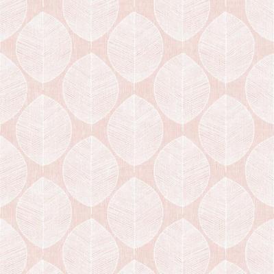 Blush Pink White Scandi Leaf Print Modern Wallpaper Arthouse 908200 Ebay