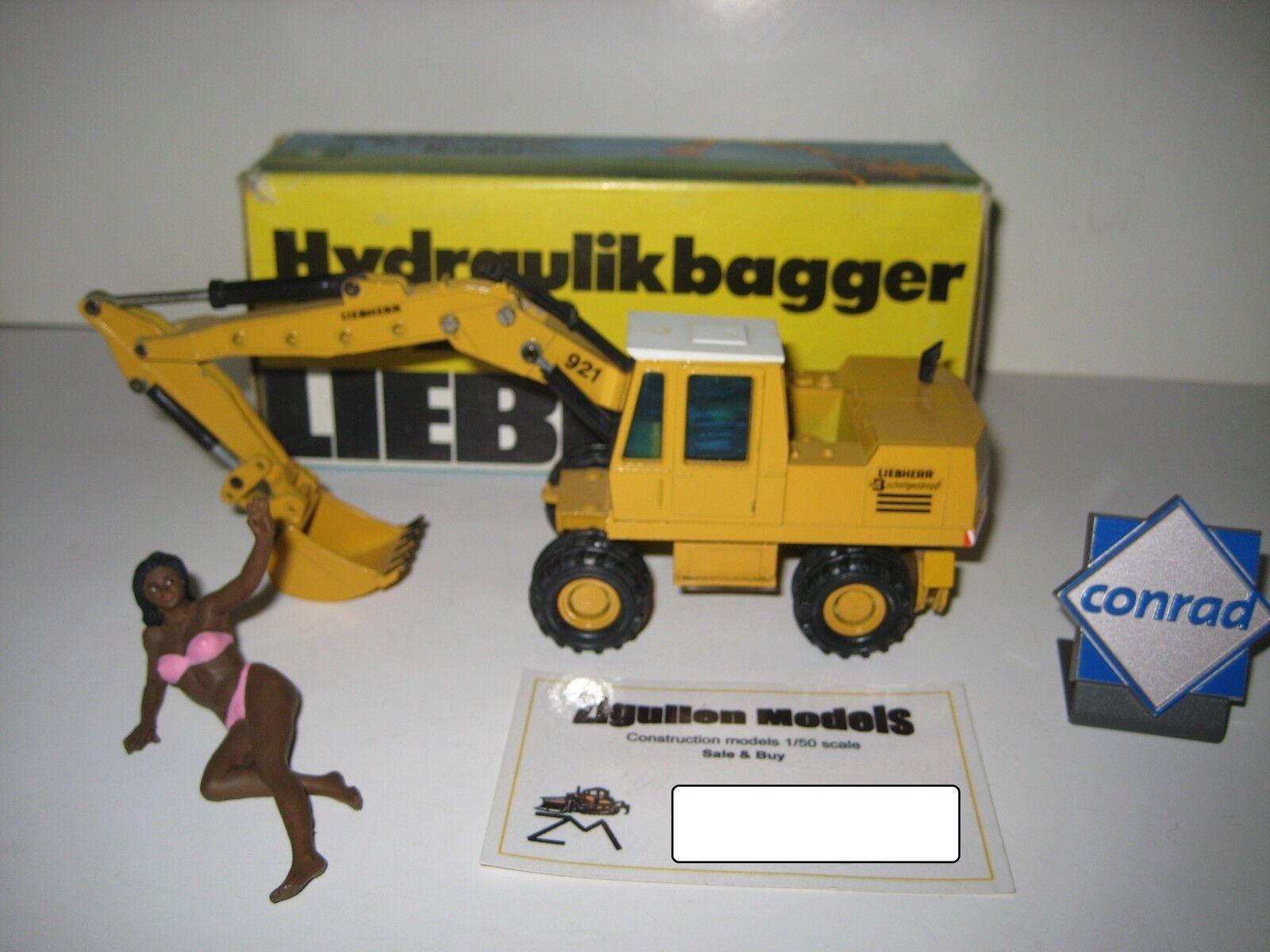 Liebherr A 921 Série B Excavateurs tieflöffel mobile  2820.11 CONRAD 1 50 NEUF dans sa boîte