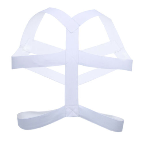 Men/'s Faux Leather Armor Body Chest Harness Underwear Clubwear Halloween Costume