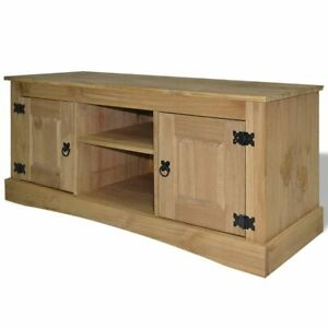 Superieur Details About VidaXL TV Cabinet Mexican Pine Corona Range Stand Unit Media  Center Sideboard
