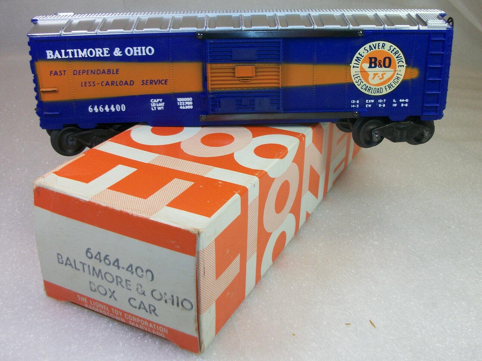 Lionel del dopo guerra fine 6464400 B & O scatola Auto C9 uncorrere in collina Scatola Originale