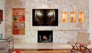 iron man marvel avengers helmet wall art home room decor printed