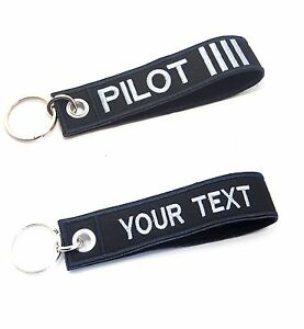 Image is loading PILOT-EMBROIDERED-CUSTOM-NAME-LUGGAGE-TAG-KEYCHAIN-REMOVE- d2e66a1179