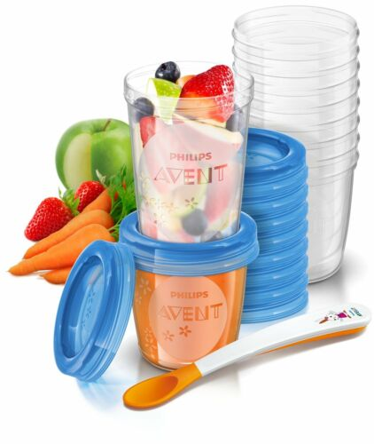 PHILIPS AVENT stockage des aliments cups for home /& Away Bpa-Free SCF721//20