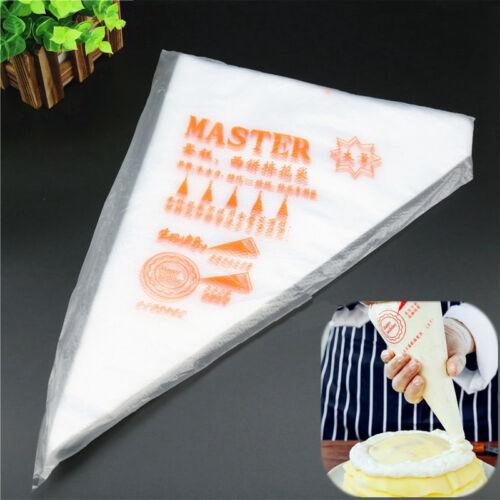 100PCS Disposable Piping Pastry Bag Icing Piping Cake Cupcake Decorating Tools