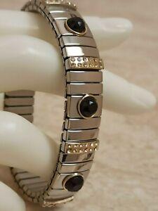 Jet-Black-Jewelry-Statement-Bracelet-Swarovski-Diamond-bangle-bracelet-2ct-Hmade