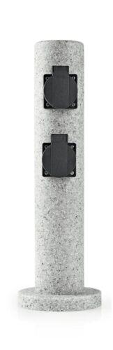 Esterno prese pilastro 4 volte prese di corrente montante presa da giardino 3518537 ottica pietra