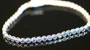 Excellent-Turkish-Handmade-Sapphire-Topaz-Sterling-Silver-925K-Bracelet