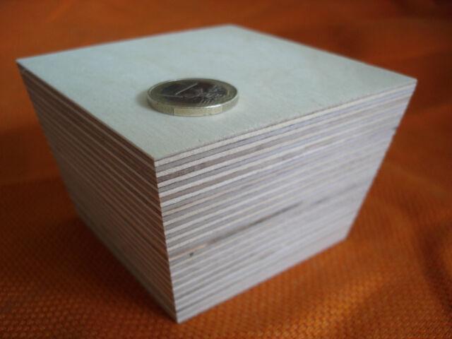 Möbelfuß Sockelfüße Möbelgleiter Holz Birke Multiplex 90x90x60 mm hoch konisch