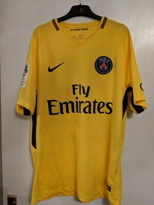 cozy fresh 16be9 225a9 PSG Away Stadium UCL Shirt 17/18 with Mbappé 29 printing - Size Medium |  eBay