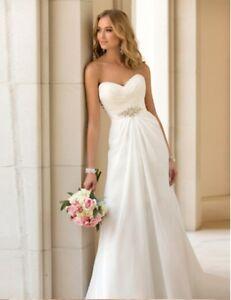 Brautkleid-Standesamt-Hochzeitskleid-A-Linie-32-48-Braut-Kleid-Chiffon-BC497