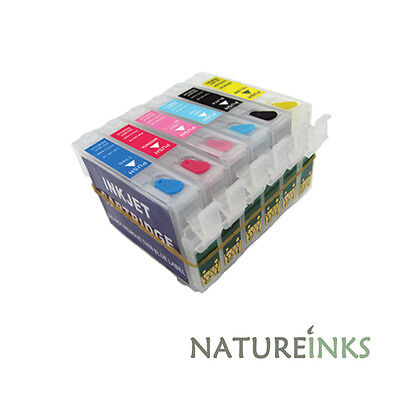 6 refillable ink cartridge to replace T0481 T0482 T0483 T0484 T0485 T0486