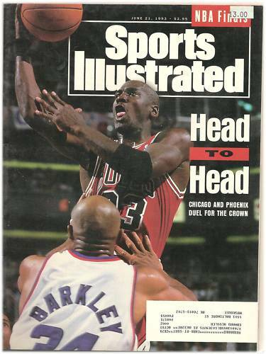 MICHAEL JORDAN CHICAGO BULLS  SPORTS ILLUSTRATED JUNE 21 1993