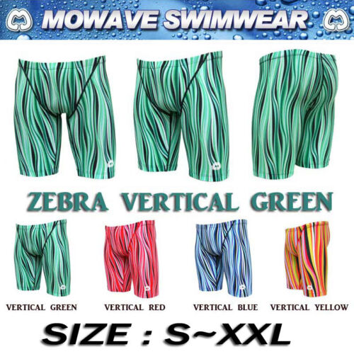 "mowave zebra men's men competition swim wear jammer pants trunk shorts 28""38"" 3"