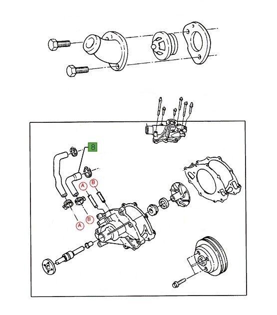 Genuine Ford Au Au2 Au3 Falcon Water Pump By Pass Hose Short 5 0l V8