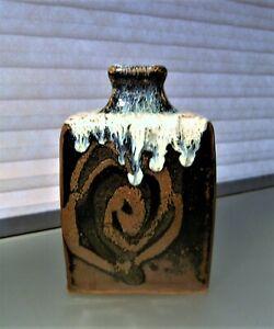 Shoji-Hamada-Style-Bottle-Vase-Japanese-Studio-Mid-Century-Pottery-Marked