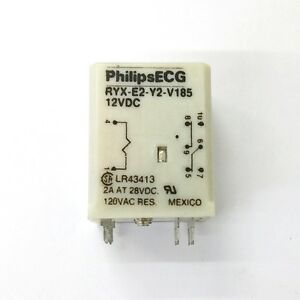 new philips ecg rly2742p ryx e2 y2 v185 12 volt dc coil. Black Bedroom Furniture Sets. Home Design Ideas