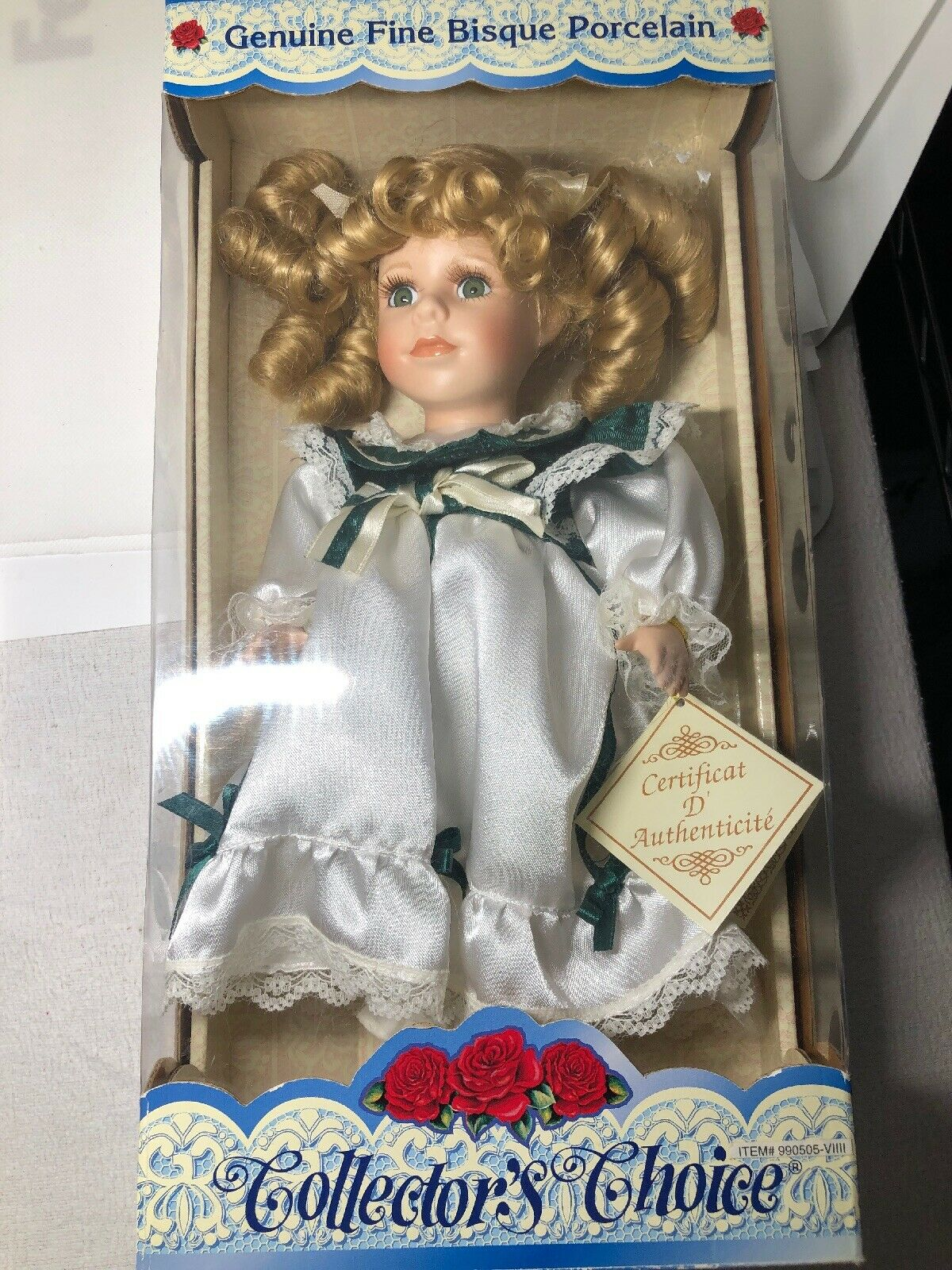 Collectors Choice Genuine Fine Bisque Porcelain Limited Edition Doll  13  Tall
