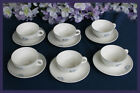 lot of 6 vintage steamship coffee / tea cups and saucers - Jackson China