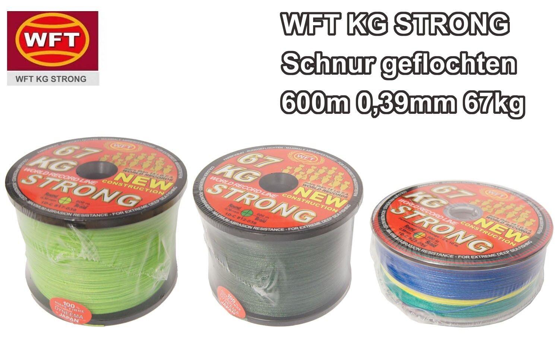 ( /1m) WFT KG STRONG Schnur Schnur Schnur geflochtene Angelschnur 600m 0,39mm 67kg 001411