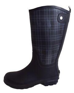 Schwarz Schuhe 36 39 Gummistiefel Regenstiefel Zu Damen Stiefel Kariert Details 40 38 37 mnvwN80
