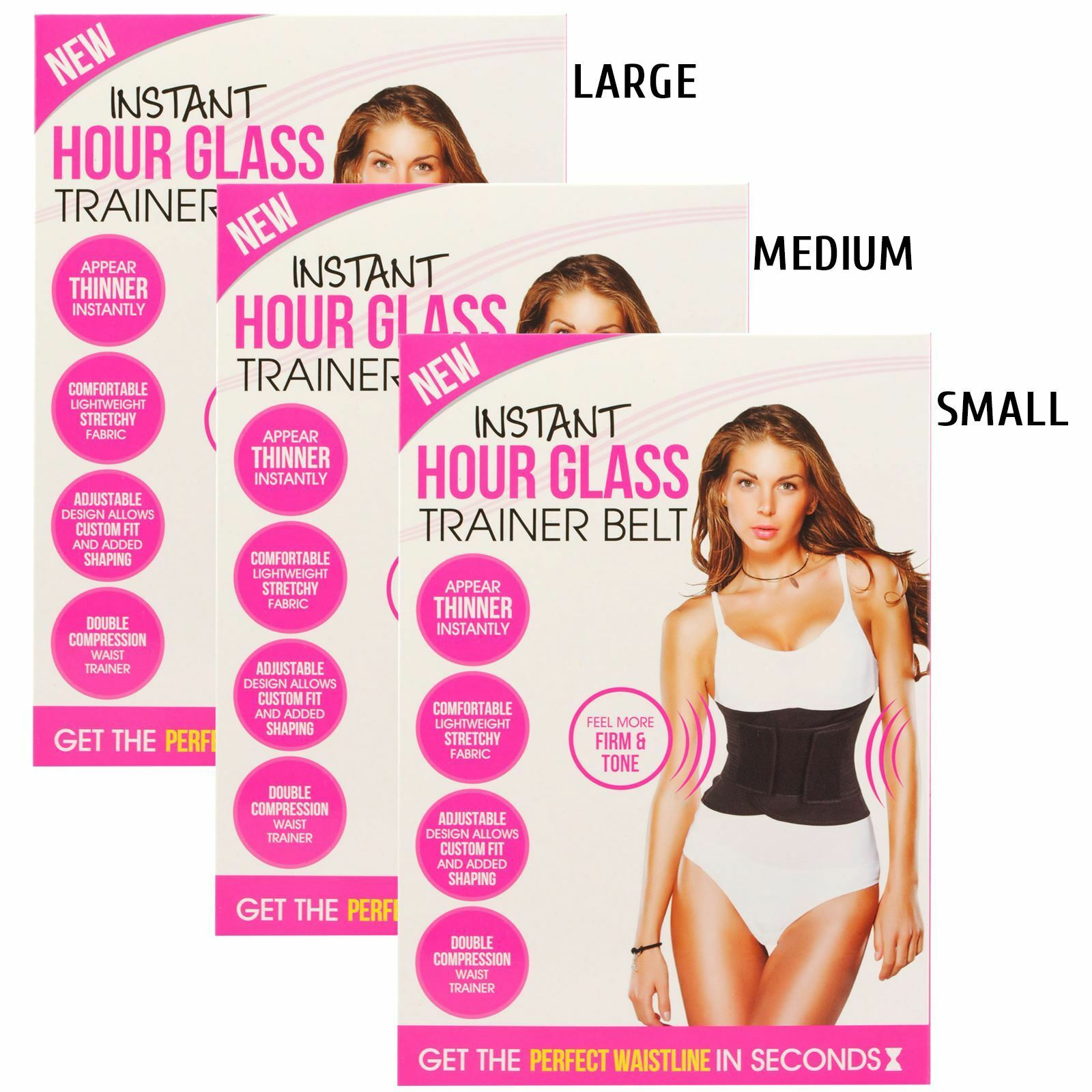 be6ae82e41 Trainer Belt Clincher Corset Instant Hourglass Shape Waist Trimmer  Adjustable Medium 744005 for sale online