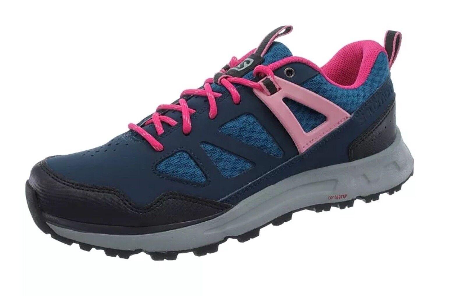 Salomon Instinct Pro women's Hiking shoes bluee pink Trekking shoes boots NEW 4.5