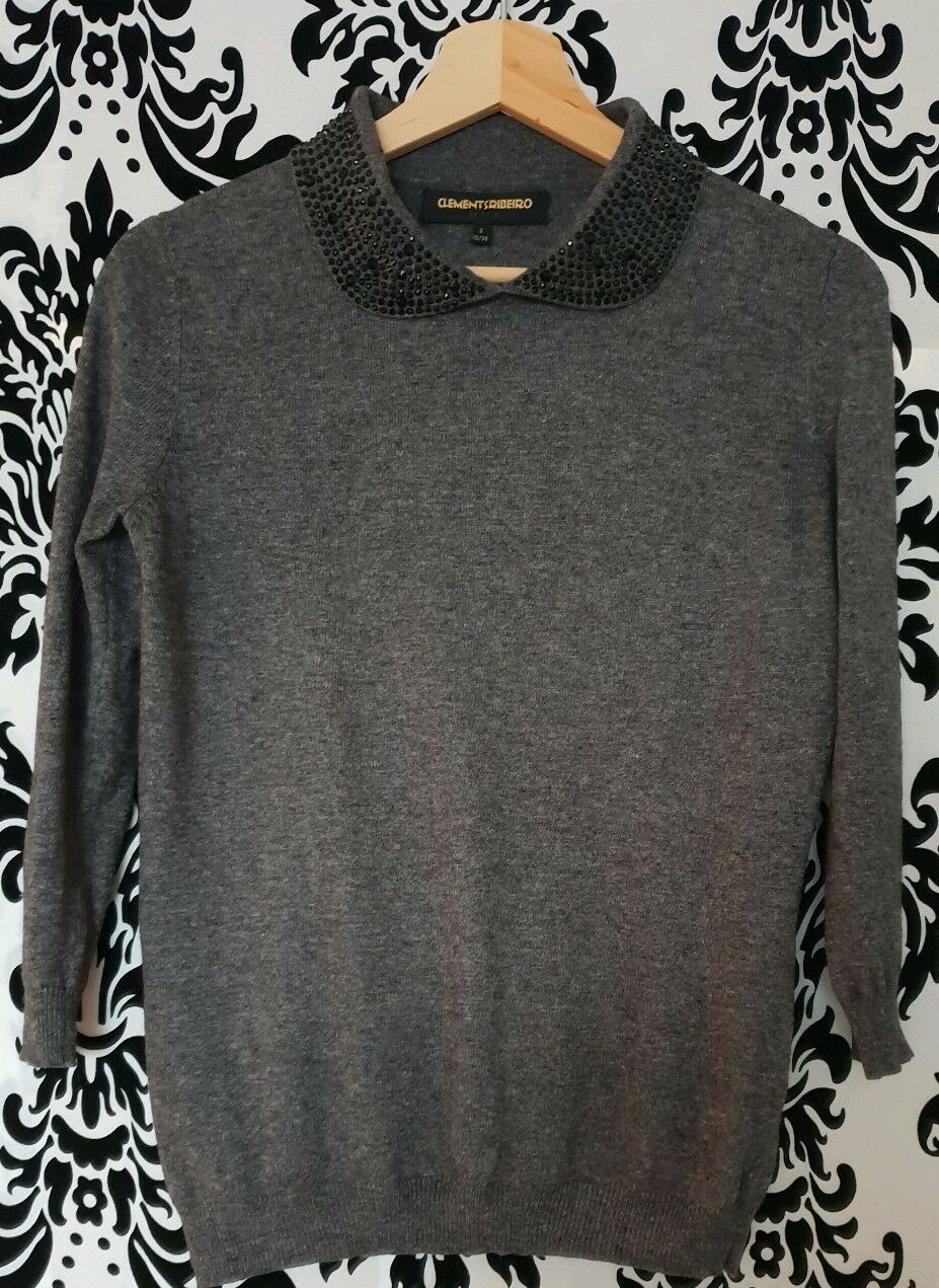 Clements Ribeiro Jewel Collar Jumper Size S RRP