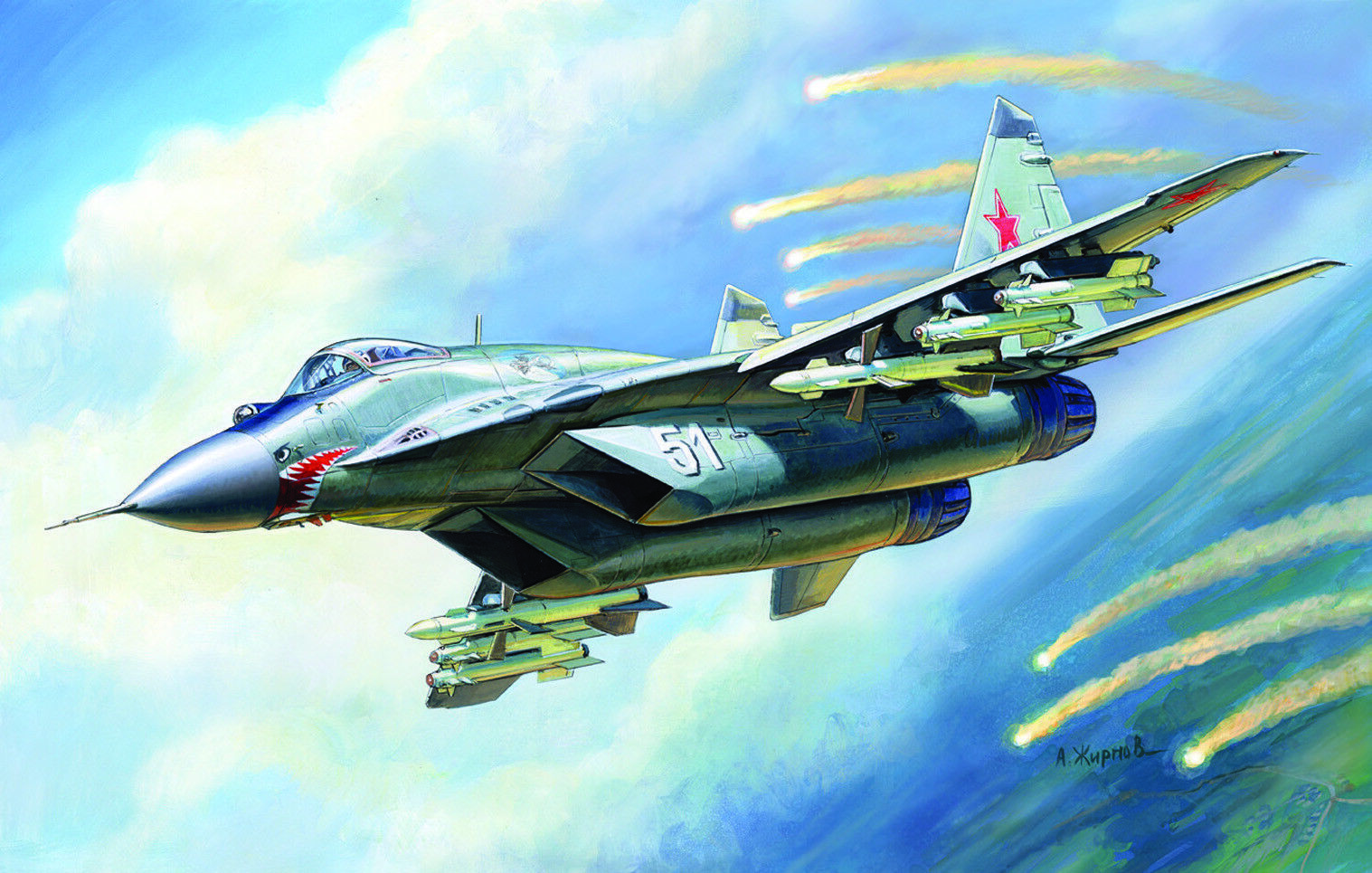 ZVEZDA 7278 MIG-29 Russian Fighter (9-13) Plastic Kit 1 72 Scale T48 Post